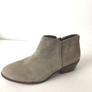 Sam Edelman petty ankle boots suede tan 8.5 w
